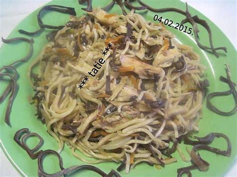recette de p 226 te chinoise aux chignons noirs et poulet
