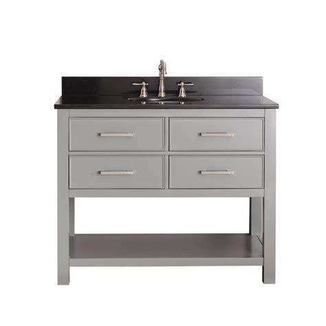 42 inch single sink bathroom vanity in chilled gray uvacbrooksv42cg42