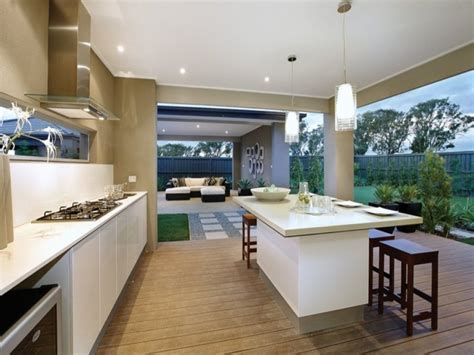 Minimalist Design For Living Room With Open Kitchen