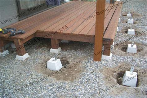concrete decking posts concrete deck footing blocks