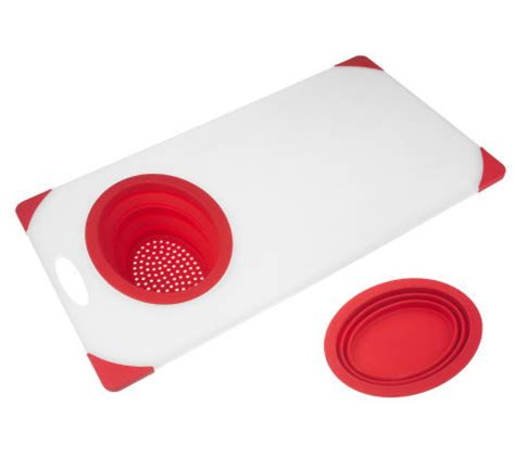 prepology the sink cutting board with colander and