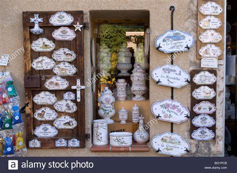 faience pottery moustiers sainte alpes de haute provence stock photo royalty free image