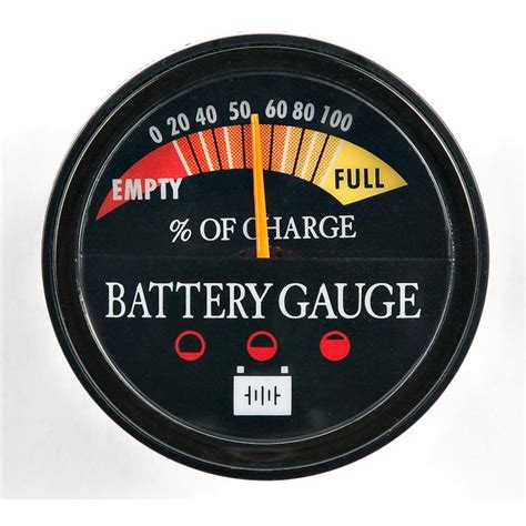 Boat Battery Gauge by Panther Permanent Battery Energy Gauge 44022