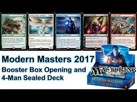 mtg modern masters 2017 booster box opening and 4