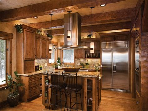 log home open floor plan kitchen luxury log cabin homes