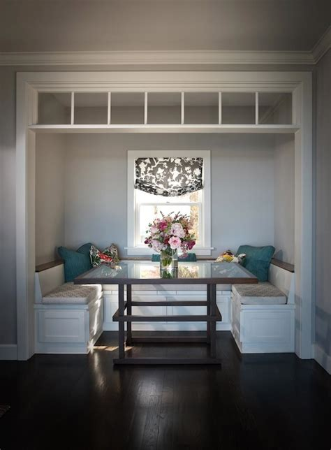 built in banquette traditional dining room andrea may gatherer