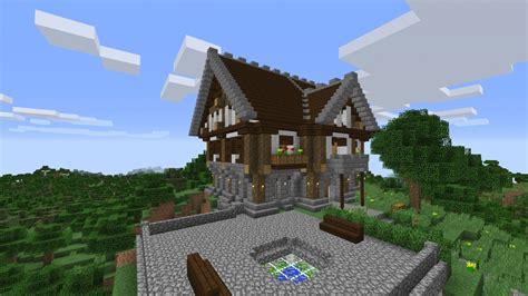 Mittelalter Haus Minecraft Bauplan Mit Herrenhaus In Bauen