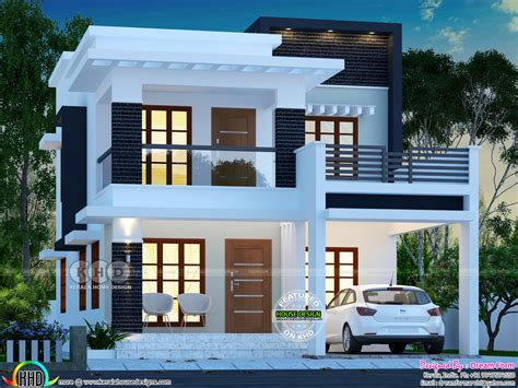 8 Lakhs Home Design : ₹25 Lakhs Cost Estimated Double Storied Home