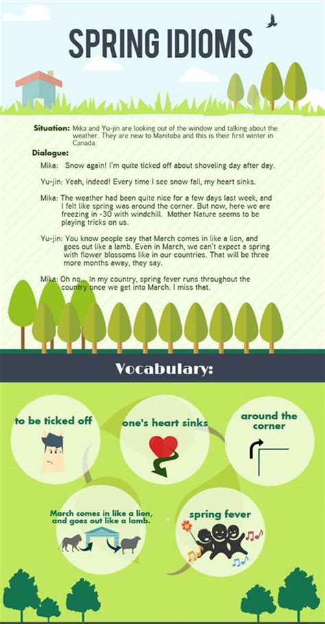 Spring Idioms  Vocabulary Home