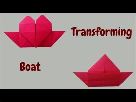 Origami Love Boat by How To Make Origami Heart Boat Love Boat Valentine Craft