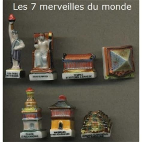 complete set of 7 feves les 7 merveilles du monde