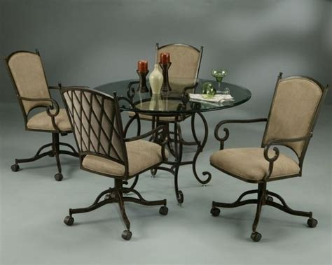 dinette sets with rolling chairs kitchen chairs the