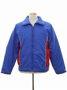 Vintage 1980's Jacket: 80s -Sears- Mens deep sky blue ...