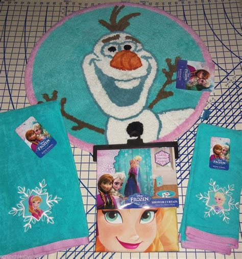 Frozen Bathroom Set At Walmart by Disney Frozen Elsa Shower Curtain Olaf Bath Rug Bath