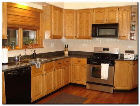 recommended kitchen color ideas with oak cabinets home and cabinet reviews