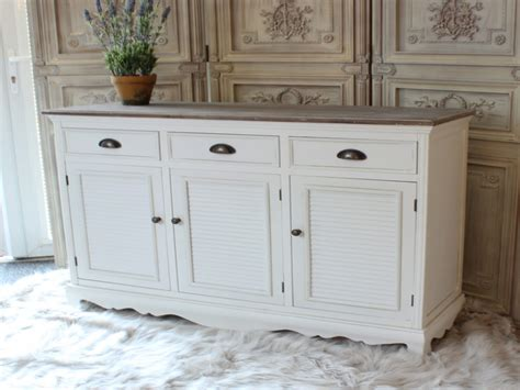 Distressed White Cabinets, White Kitchen Buffet Cabinet