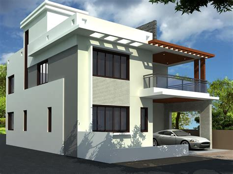 Online House Plan Designer With Contemporary Duplex House