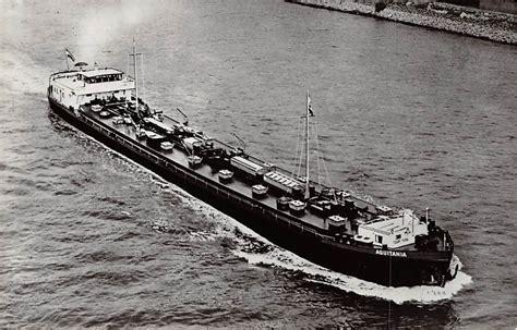 Scheepvaart Binnenvaart by Rotterdam Motortank Schip Aquitania Phs Van Ommeren N V