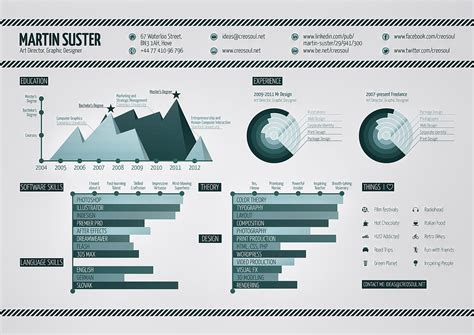 Infographic Resume On Monochrome Graphic Design [infographic]