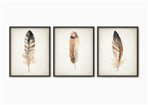 Watercolor Feathers Wall Art Print Set Of 3 Modern Home Unscramble Baby Shower Game Oil After Depot Votive Candle Favors Theme For Girl The Price Is Right Printable Locations Phoenix How To Make Bows