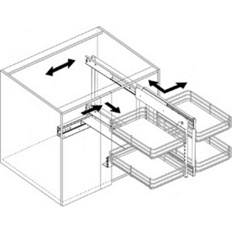 slide out base blind kitchen corner cabinet unit by knape vogt kitchensource