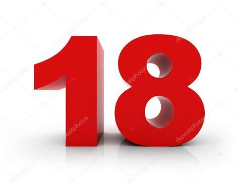 Number 18 — Stock Photo © morenina #66714577