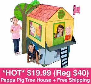 *HOT* $19.99 (Reg $40) Peppa Pig Tree House Play Tent ...