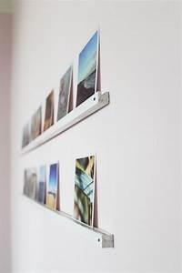 Bilderwand Gestalten Ohne Rahmen : die besten 25 fotoleiste ideen auf pinterest bilderrahmen holz bilder selber machen und ~ Markanthonyermac.com Haus und Dekorationen