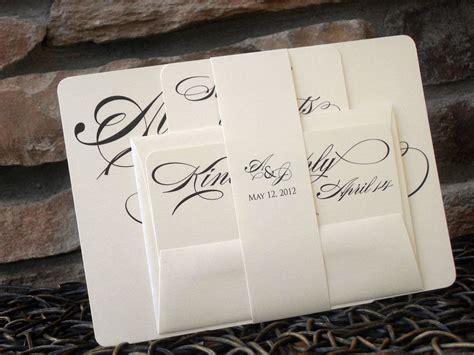 custom simple modern wedding invitation sle by papel lindo custommade