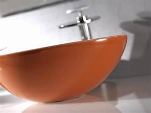 Waschbecken Arbeitsplatte Bad : ovales waschbecken aus keramik arbeitsplatte oder an der wand montiert idfdesign ~ Markanthonyermac.com Haus und Dekorationen