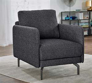 Couch Mit Sessel : h lsta sofa sessel wahlweise in stoff oder leder mit schmaler armlehne online kaufen ~ Markanthonyermac.com Haus und Dekorationen