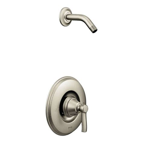 moen rothbury 1 handle shower faucet trim kit with less