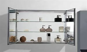 Spiegel Mit Hinterleuchtung : aluminium spiegelschrank 2 t rig innen und au en spiegel 100 x 66 x 12 cm badewelt badm bel ~ Markanthonyermac.com Haus und Dekorationen