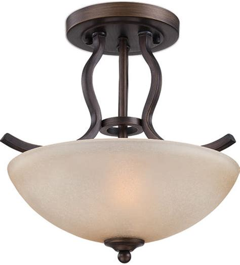 patriot lighting 174 maleah 13 1 2 quot bronze 2 light semi flush mount ceiling light at menards 174