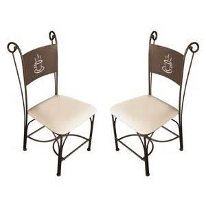chaise de cuisine fer forge table de lit