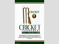 Cricket template PosterMyWall
