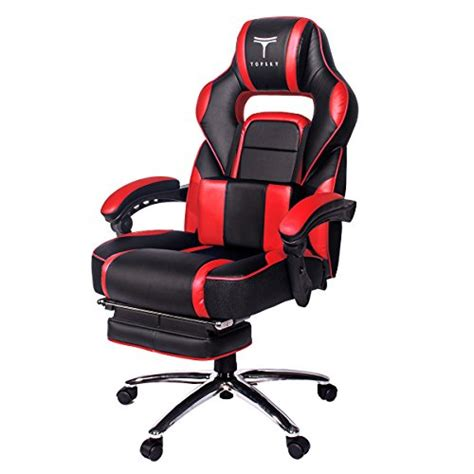 topsky high back racing style pu leather computer gaming office chair ergonomic reclining