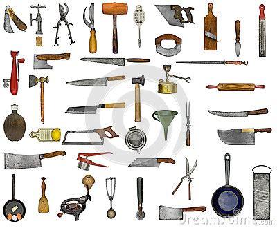 collage d ustensiles de cuisine de vintage images libres de droits image 36743509