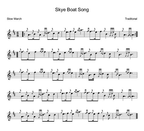 Boat Song To Skye by Skye Boat Song Bagpipe Lesson