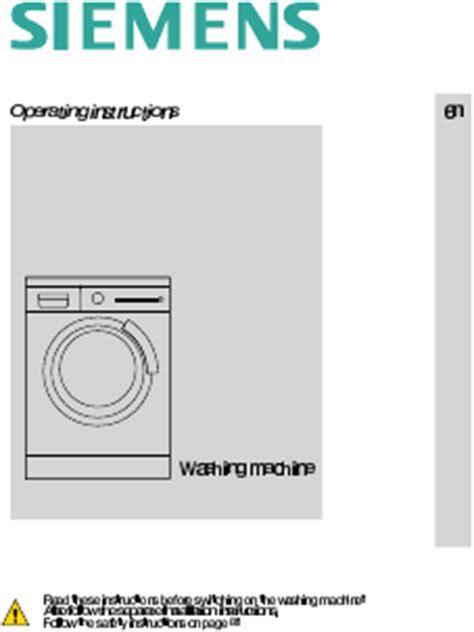siemens wm10s740ee mode d emploi notice d utilisation manuel utilisateur t 233 l 233 charger pdf