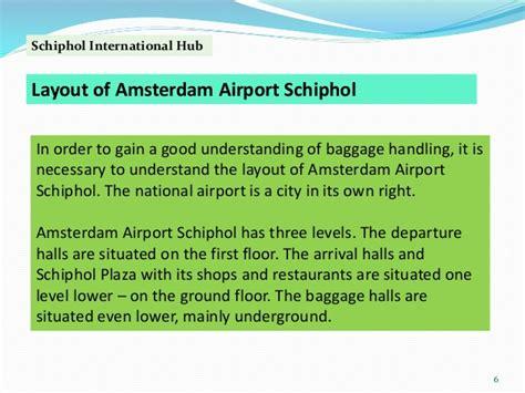 Schiphol International Hub by Case Study 2 Schiphol International Hub Is Ec Gst5083
