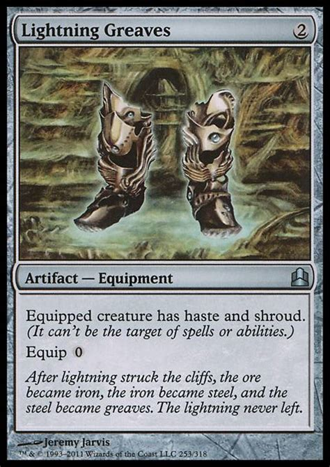 lightning greaves cmd mtg card