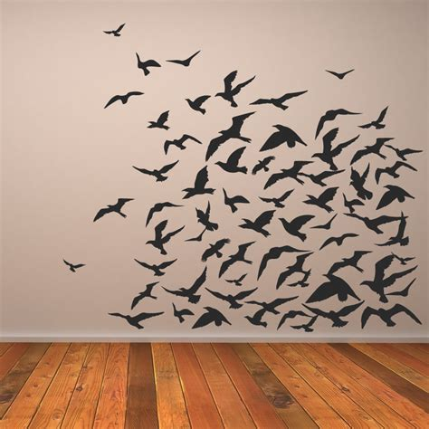 wall designs bird wall wall birds black