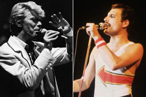 David Bowie And Freddie Mercury's 'under Pressure' Session