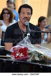 16th Aug 2012. Lionel Richie on stage for NBC Today Show ...