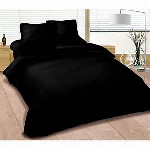 Bettdecke 240 X 260 : parure de couette 240 x 260 cm noire achat vente parure de couette soldes cdiscount ~ Markanthonyermac.com Haus und Dekorationen