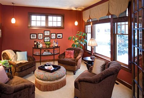 warm paint colors for living room with chic pendant l
