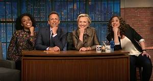 Hillary Clinton helps Seth Meyers with some jokes he can't ...