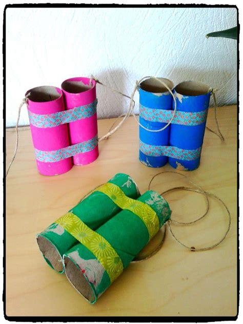 paires de jumelles rouleau d papier toilette voyage bricolage enfant diy rouleau papier wc