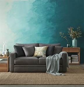 Effekt Farbe Streichen : wohnzimmer wandgestaltung mit farbe ombre wand streichen ~ Markanthonyermac.com Haus und Dekorationen